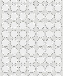 Etichette adesive trasparenti rotonde 25 mm