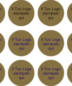 etichette personalizzate oro