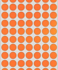 Etichette Adesive Tonde 25 mm Arancio Fluo