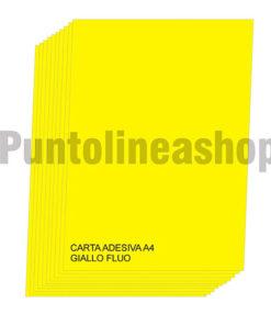 Etichette adesive A4 Giallo Fluo