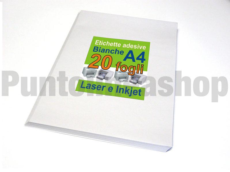 Carta per stampante Aautoadesivo di carta adesivo X fogli