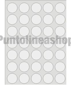 Etichette Adesive trasparenti rotonde 36 mm